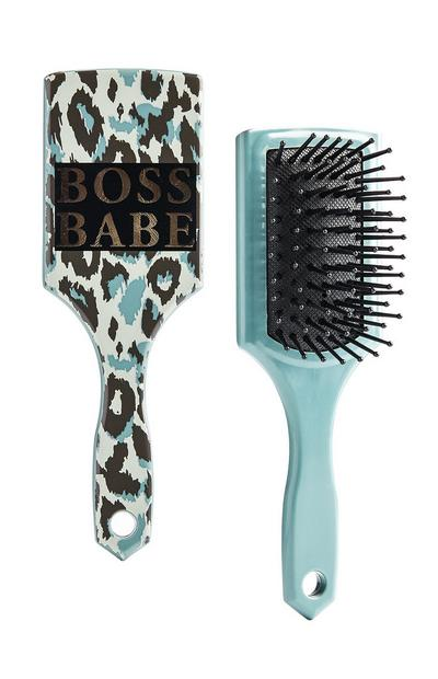 Camo Boss Babe Mini Hairbrush
