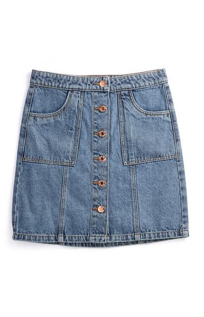 Older Girl Denim Skirt