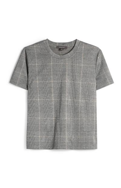 Charcoal Check Top