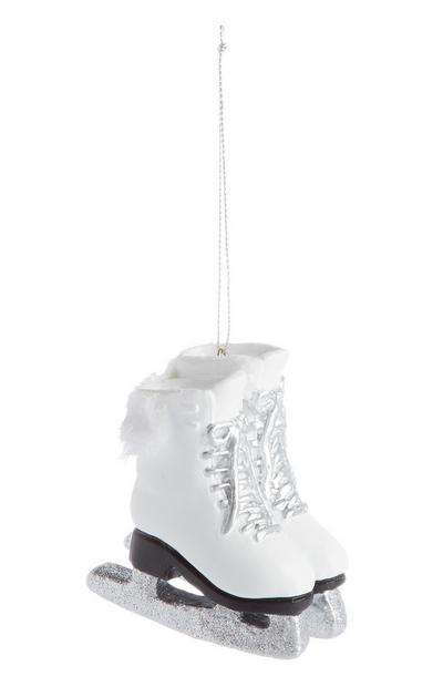 White Ice Skating Shoe Decoration