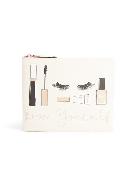 Make-up-Tasche mit Slogan