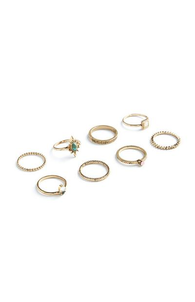 Fashion Rings 8Pk