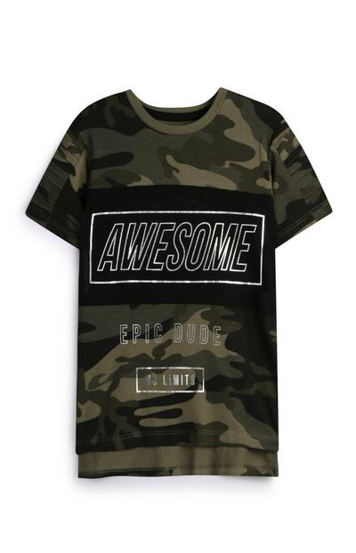 Younger Boy Camo T-Shirt