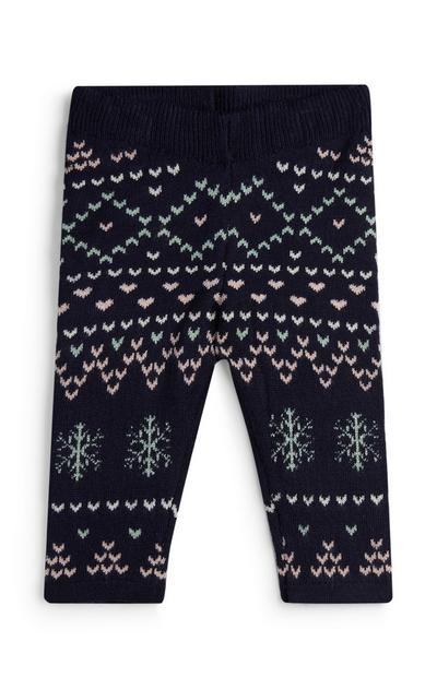 Baby Girl Fair Isle Leggings