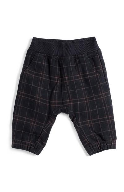 Baby Boy Navy Check Trousers