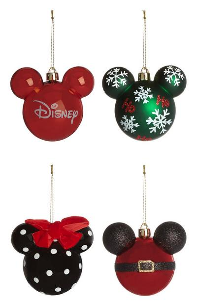 Disney Mickey Mouse Baubles 4Pk