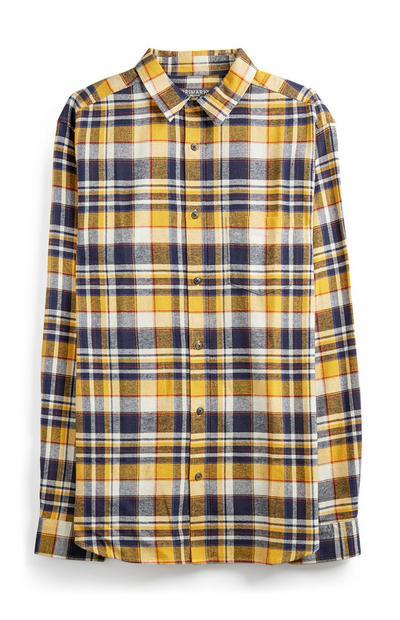 Mustard Check Flannel Shirt