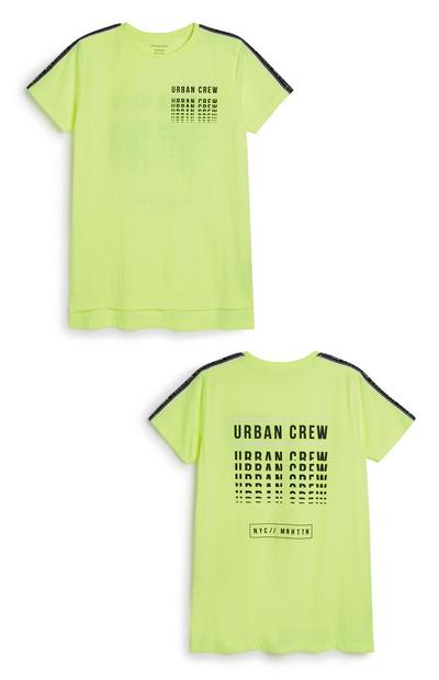 Older Boy Neon Slogan T-Shirt