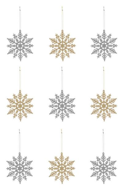 Snowflake Decoration 9Pk