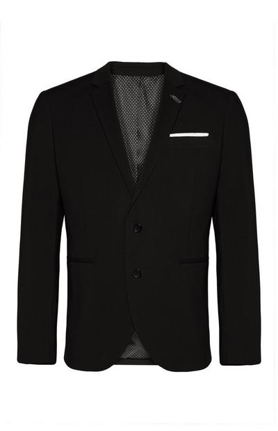 Navy Basketweave Suit Jacket