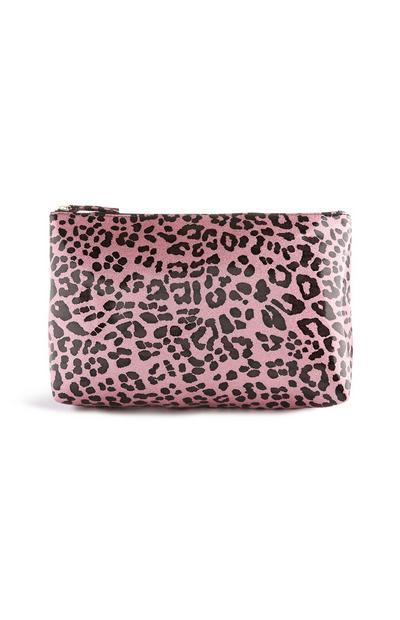Make-up-Tasche mit Leopardenmuster