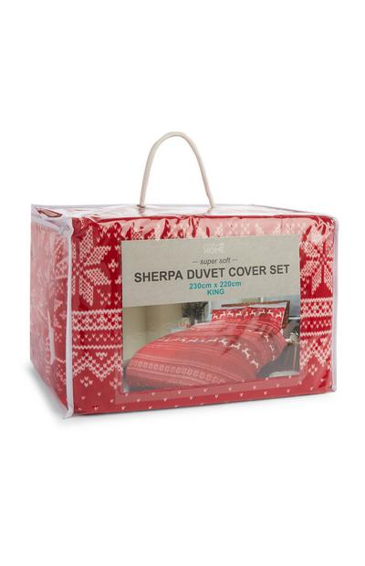 Check Sherpa Single Duvet Set