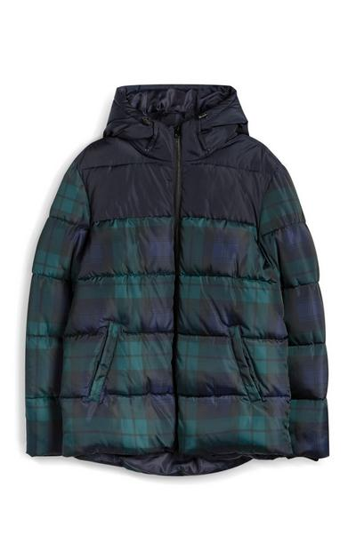 Green Padded Puffa Jacket