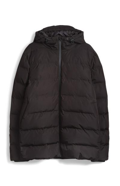 Black Sporty Padded Puffer Jacket