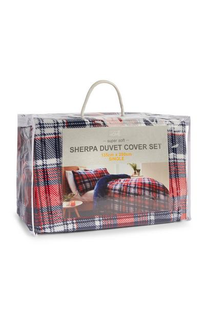Fairisle Sherpa Kingsize Duvet Set