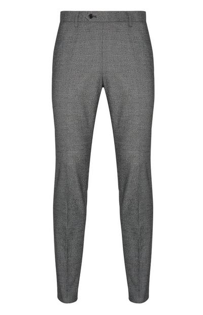 Grey Mini Check Skinny Trousers