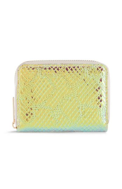 Holographic Snake Print Purse
