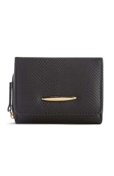 Black Textured Purse