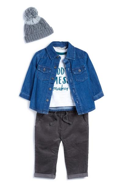 Baby Denim Outfit 4Pc