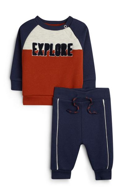Baby Boy Navy Explore Jumper And Joggers