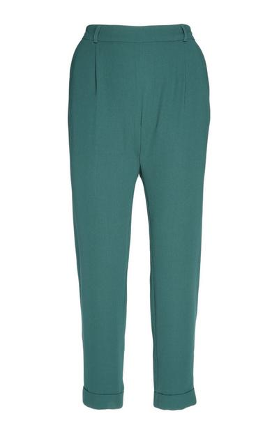 Dark Green Peg Trouser