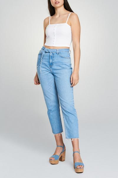 Denim Belted Jeans