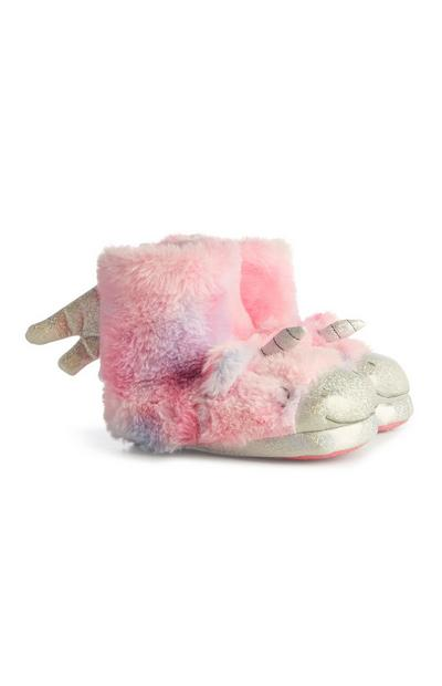 Pink Unicorn Slipper Boots