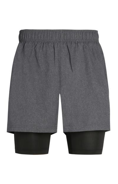 Graue Performance-Shorts