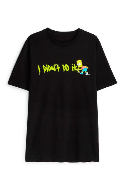 Bart Simpson Black T-Shirt