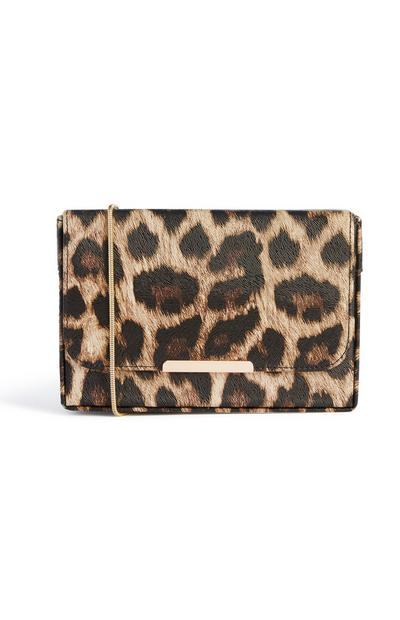 Bedruckte Clutch mit Leopardenmuster