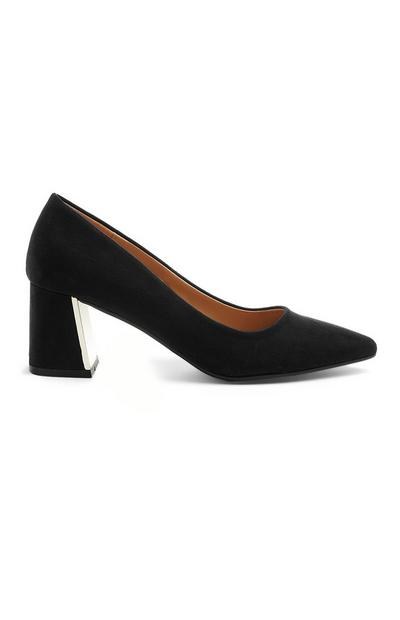 Black Heel Court Shoe