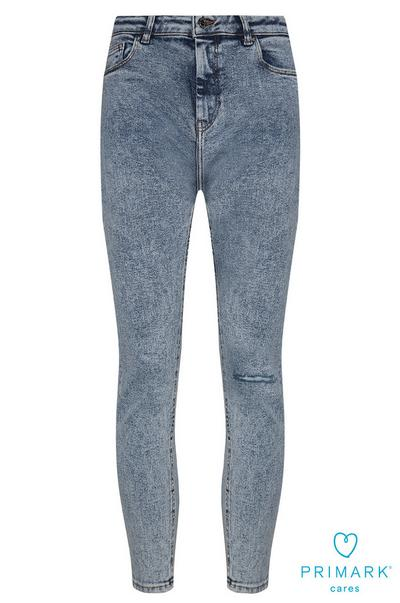 Blue Ripped Sustainable Cotton Jeans