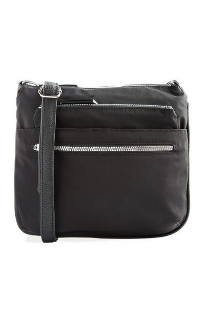 Schwarze Nylon-Tasche
