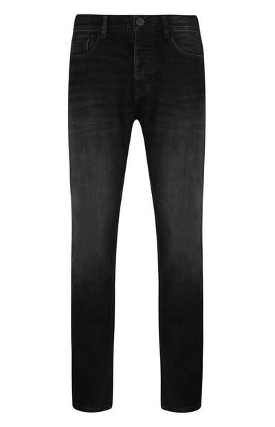 Dark Blue Straight Stretch Jeans