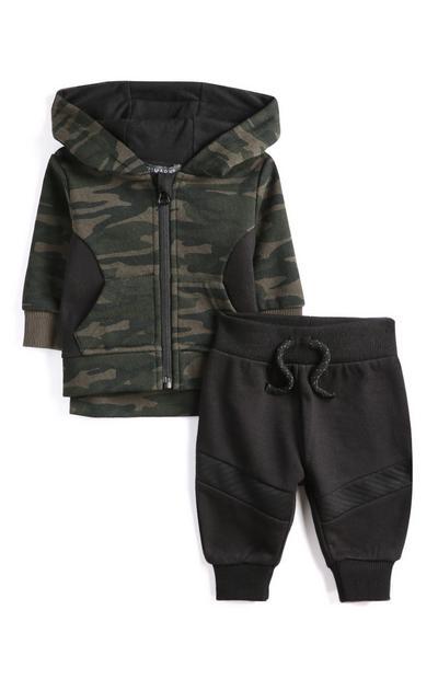 Kapuzenpullover und Leggings mit Tarnmuster für Babys (J)