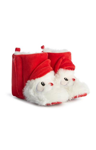 Red Santa Claus Slipper Boots