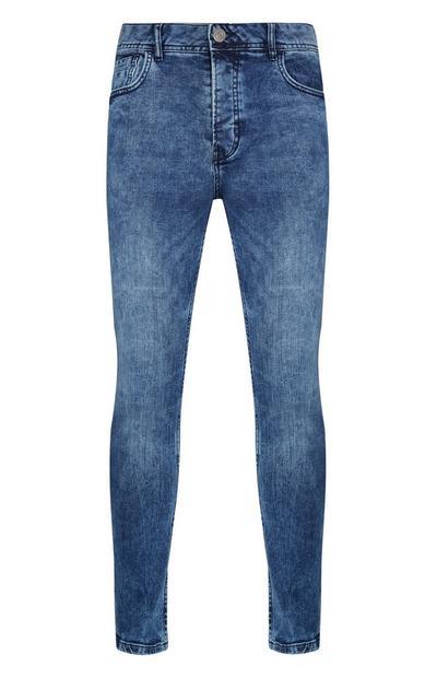 Blue Stretch Skinny Jeans