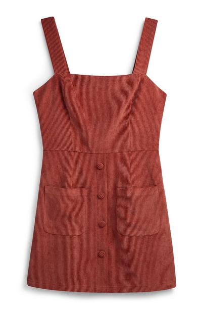 Blush Corduroy Pinafore Dress