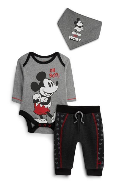 Newborn Mickey Mouse Jogger Set 3Pc