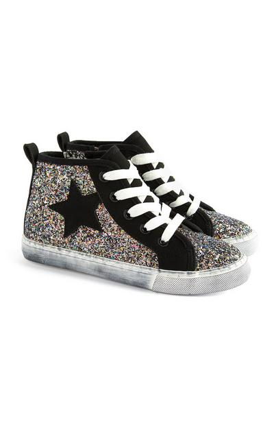 Older Girl Sparkle Star Trainers