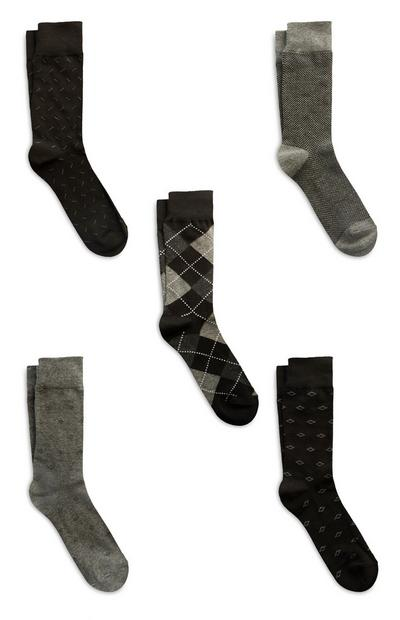 Black Modal Cotton Socks 5Pk