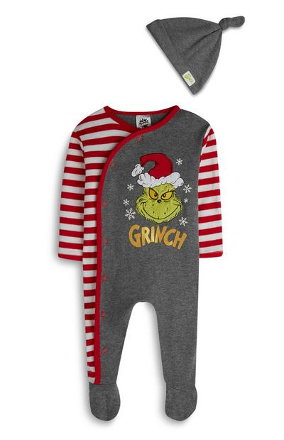 Baby Boy The Grinch Sleepsuit And Hat