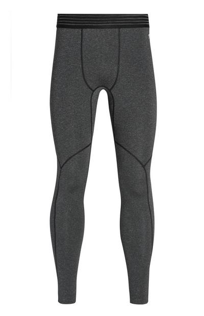 Graue nahtlose Leggings