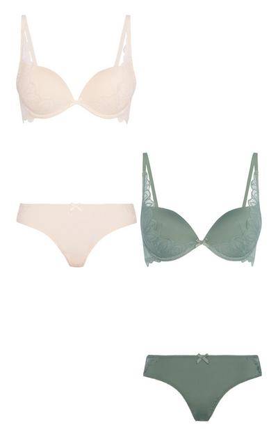 Plunge Bra And Brief Set