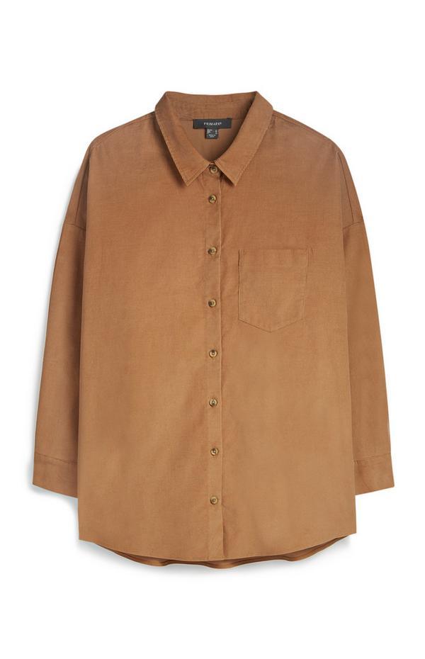 Tan  Corduroy Shirt