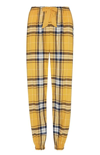 Yellow Flannel Pj Trouser