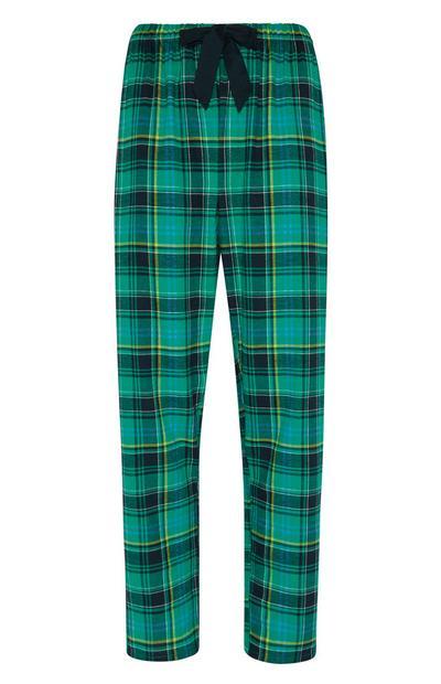 Green Flannel Pj Trouser