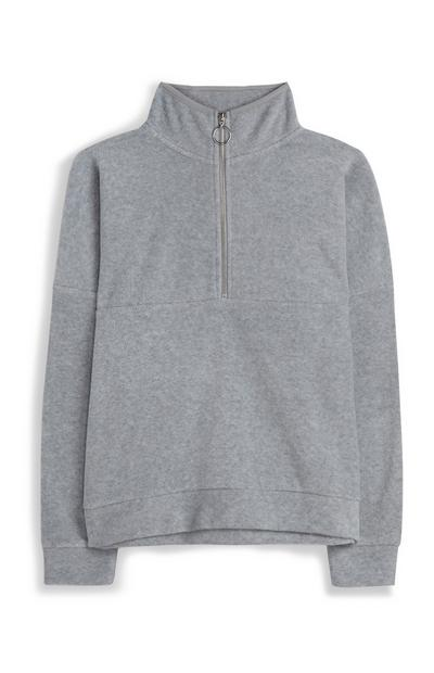 Grey Highneck Fleece
