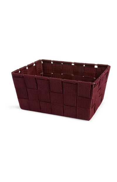 Burgundy Mini Woven Basket