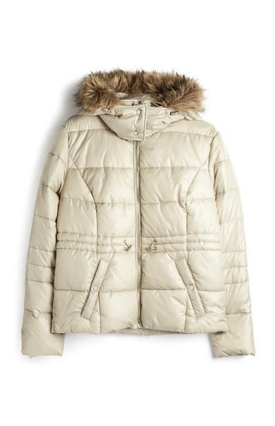 Ivory Recycled Padded Jacket